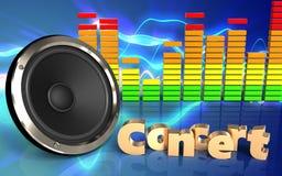 spektrum för ljudsignal 3d Arkivfoto