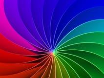 Spektrum-Hintergrund des Regenbogen-3d Lizenzfreies Stockfoto