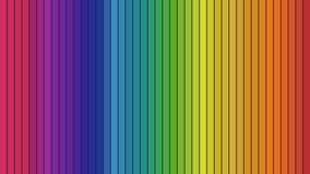 Spektrum von senkrechten Spalten Stockfotografie
