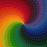 Spektrumrad hergestellt von den Ziegelsteinen Regenbogenfarbspektrum-Schmutz-BAC Lizenzfreie Stockfotos