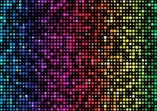 Spektrumregenbogen, schillernder Hintergrund von Kreisen von verschiedenen Durchmessern auf schwarzem Hintergrund Vektor mit weic Lizenzfreie Stockfotos