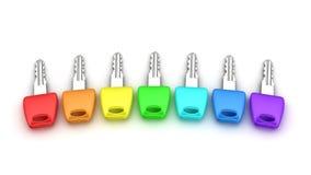 Spektrumschlüssel Stockfotos