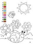 Spel 29, de kleuren stock afbeelding