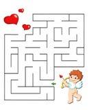 Spel 37, romantisch labyrint Stock Afbeeldingen