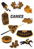 Spel stock illustrationer
