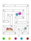 Spel 4 - het nauwkeurige aantal Royalty-vrije Stock Afbeeldingen