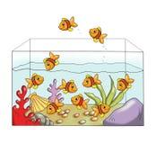 Spel 5 - de verschillende vissen Stock Foto's