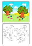 Spel 58, schets om kleur te zijn stock illustratie