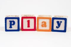 Spel in blokken Stock Foto's