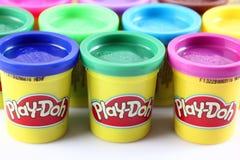 Spel-Doh modelleringssamenstelling Stock Foto's
