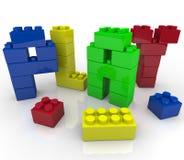 Spel - het Creatieve en Fantasierijke Leren Stock Foto