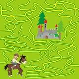 Spel - labyrint Stock Foto