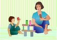 Spel met bakstenen Stock Afbeelding