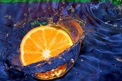 Spel met citrusvrucht Stock Foto's