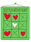 Spel met pijl en hart Royalty-vrije Stock Afbeeldingen
