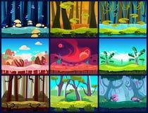 Spel Naadloze Vector Als achtergrond Stock Afbeeldingen