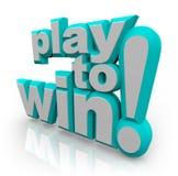 Spel om de Bepaling van Woorden te winnen Royalty-vrije Stock Afbeelding