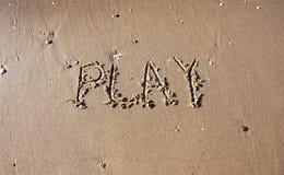 Spel op het strand stock afbeelding