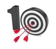 Spel op tien. De metafoor van het succes Stock Afbeeldingen