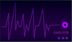 Spel over- ekg grafiek Royalty-vrije Stock Afbeelding