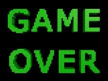 Spel over groene teksten Royalty-vrije Stock Afbeeldingen
