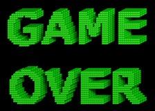 SPEL OVER groene teksten 3 Stock Afbeelding