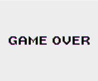 Spel over pictogram Stock Afbeelding