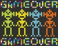 Spel over- retro spel Stock Afbeelding