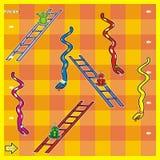 Spel, slangen en kikkers Stock Afbeelding