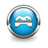 Spel-stootkussen pictogram Stock Afbeeldingen