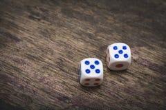 Spel twee dobbelt nummer vijf Royalty-vrije Stock Afbeelding
