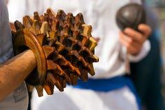 Spel van de Bal met de Armband - Treia Italië Stock Afbeelding
