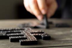 Spel van domino met dominostenen Royalty-vrije Stock Fotografie