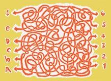 Spel van het Labyrint van ABC hand-drawn Stock Foto's
