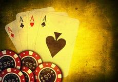 Spel van kaarten Stock Foto's