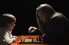 Spel van schaak Stock Afbeelding
