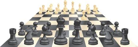 Spel van schaak vectorillustratie Royalty-vrije Stock Foto