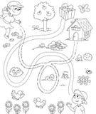 Spel voor kinderen 1 BW Royalty-vrije Stock Afbeeldingen