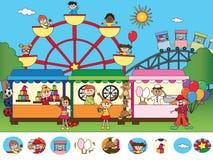 Spel voor kinderen vector illustratie