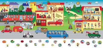 Spel voor kinderen stock illustratie