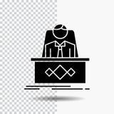 spel, Werkgever, legende, meester, CEO Glyph Icon op Transparante Achtergrond Zwart pictogram stock illustratie