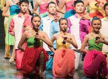 Spela Allegro-kines folkdans Arkivbilder