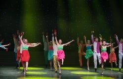 Spela Allegro-kines folkdans Arkivbild