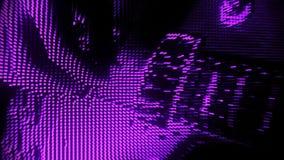 Spela bakgrund V2 för rörelse för purpurfärgad partikelgitarr en abstrakt lager videofilmer