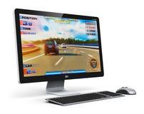 Spela den skrivbords- datoren Royaltyfria Foton