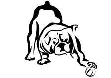 Spela för bulldogg vektor illustrationer