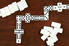 Spela för domino Arkivfoton