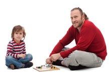 Spela för fader och för son Royaltyfria Bilder