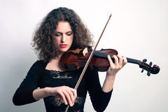 Spela för fiolviolinistmusiker Royaltyfria Foton