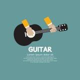 Spela för gitarr. stock illustrationer